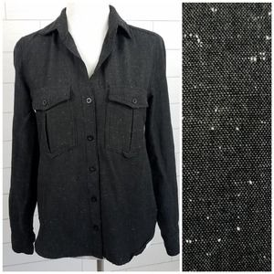 Cloth & Stone XS Black & White Speckled Shirt